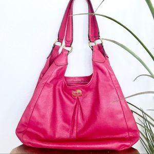 EUC Coach Hobo Shoulder Bag Fuchsia Red Pink